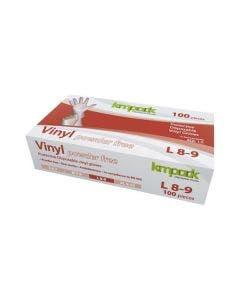 Vinylhandskar L 100 st/fp transparent, opudrad