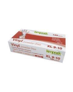 Vinylhandskar XL 100 st/fp transparent, opudrad