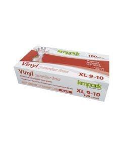 Vinylhandskar 100 st/frp Transparent, opudrad