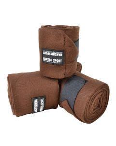 Fleecebandage Basic 4 m x 12 cm 4-pack Brun