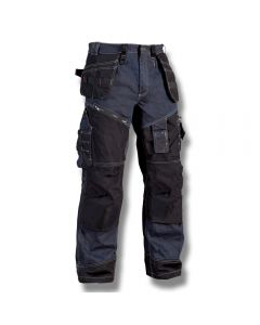 Hantverksbyxa X1500 Blåkläder strl C48 Marinblå/svart