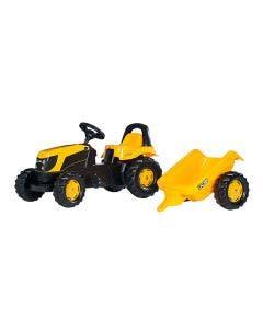 Rolly Toys Tramptraktor  JCB med släp