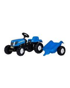 Rolly Toys Tramptraktor  New Holland T7040 med släp