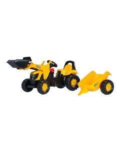 Rolly Toys Tramptraktor  JCB med släp och frontlastare