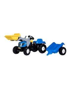 Rolly Toys Tramptraktor  New Holland T7040 med släp frontlastare