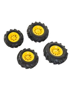 Rolly Toys Luftdäck  Däckstorlek 2x 325x110, 2x 260x95 Gul