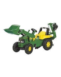 Rolly Toys Tramptraktor John  Deere Fram och baklastare