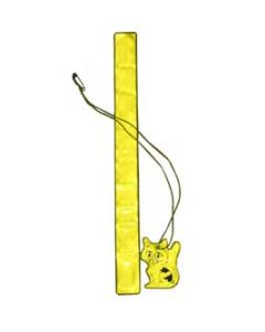 Armreflex Slapwrap + Hängreflex katt neongul