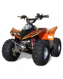 "ATV Fyrhjuling 90cc Ten7 Orange-Metallic 7"" Hjul"