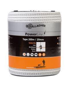 Elband Gallagher Powerline Vitt 20 mm 200 m