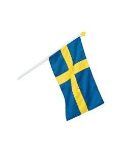 Fasadflagga Formenta  Sverige med Hållare