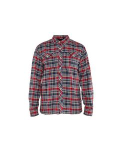 Flanellskjorta Blåkläder Marinblå/Röd