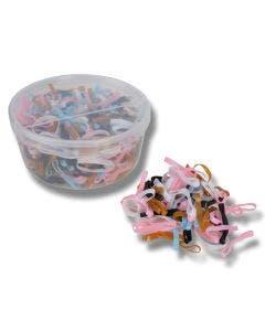 Flätningsband i silikon/gummi I plastburk