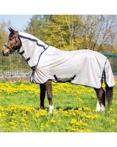 Flugtäcke Horseware Mio Fly Rug Brons och Marin 125 cm