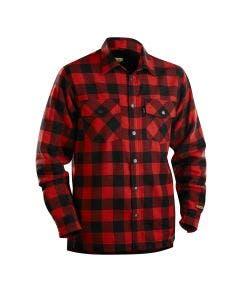 Fodrad flanellskjorta Blåkläder Röd/Svart