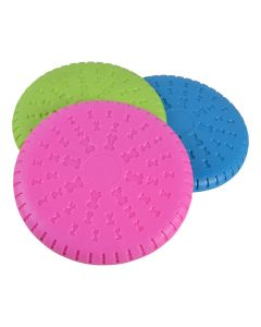 Frisbee i mjuk gummi mixade färger 23,5 cm