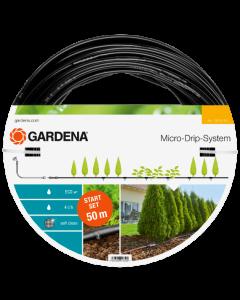 Droppslang Gardena För plantrader 50m inkl tryckutjämnare