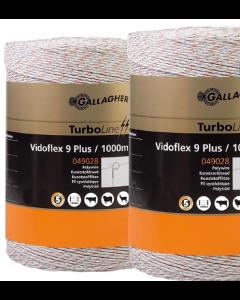 Eltråd Gallagher TurboLine 9 Plus 3 mm Vit 1000 m 2-pack