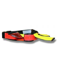 Halsband reflex Neon Line Hunter 2 Way neonröd/gul medium 40-55 cm