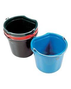 Hink flat sida svart 12 liter