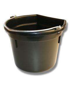 Hink flat sida svart 20 liter