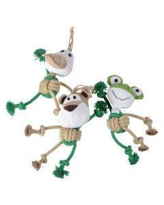 Hundleksak Djurmodell jute Grön / Beige / Vit 25 cm