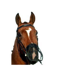 Nosskydd i mesh för träns svart ponny