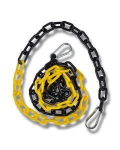 Plastkätting 2 m svart/gul