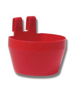 Plastvattenkopp röd 100 x 80 x 60 mm 300 ml