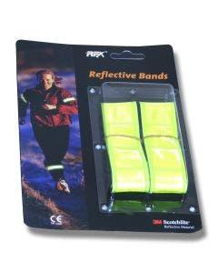 Reflexband för arm eller ben, joggingband neongul