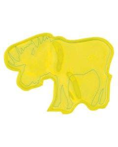 Reflexklistermärke gul älg