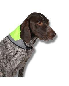 Reflexscarfs för hund S 30x14 cm gul