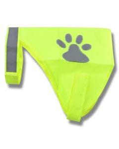 Reflexväst för hund neongul 30 cm