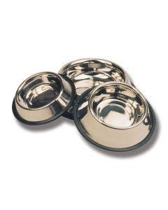 Skål rostfri spaniel extra hög kant med gummikant 1 l