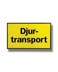 "Skylt ""Djurtransport"" Hårdplast 30 x 50 cm"