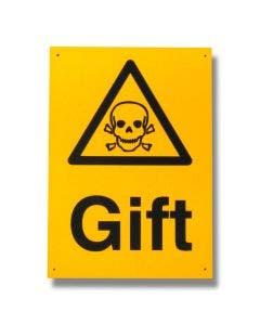 """Skylt """"Gift"""""""