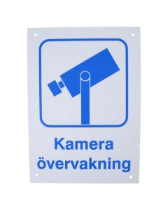 """Skylt """"Kameraövervakning"""""""