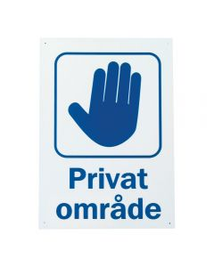 "Skylt ""Privat område"""