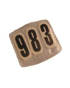 Tävlingsnummer kompl. fyrkantig kardborr
