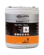 Elband Gallagher Powerline Vitt 20 mm 200 m