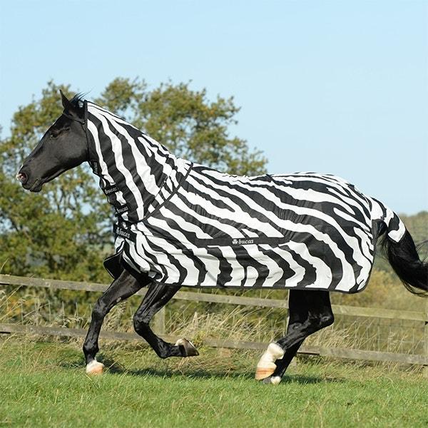 Flugtäcke Bucas Buzz-Off Zebra Full-Neck 85 cm - Bucas