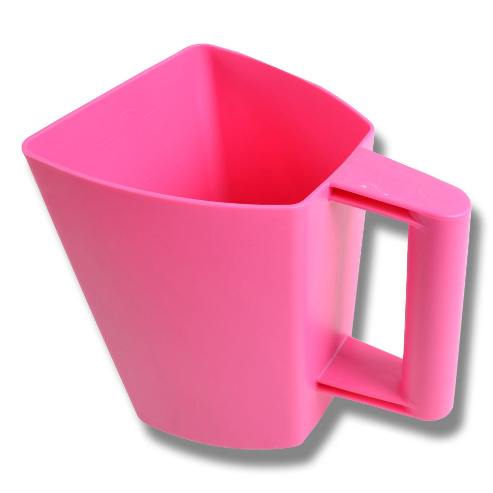 Foderskopa plast 2 liter rosa - Willab