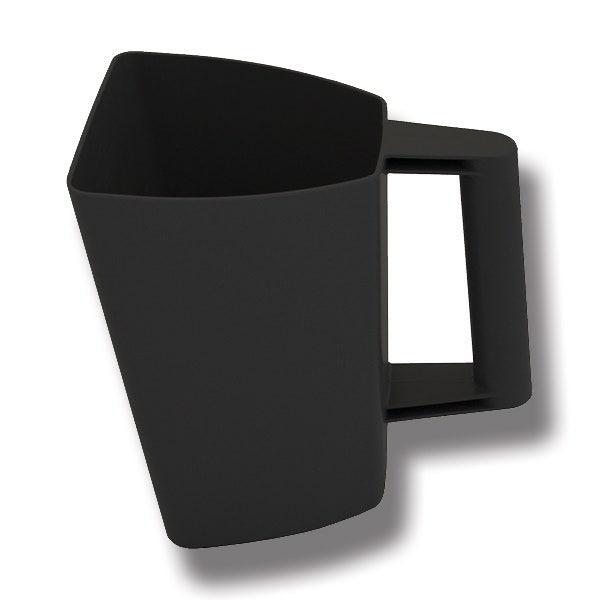 Foderskopa plast 2 liter svart - Willab