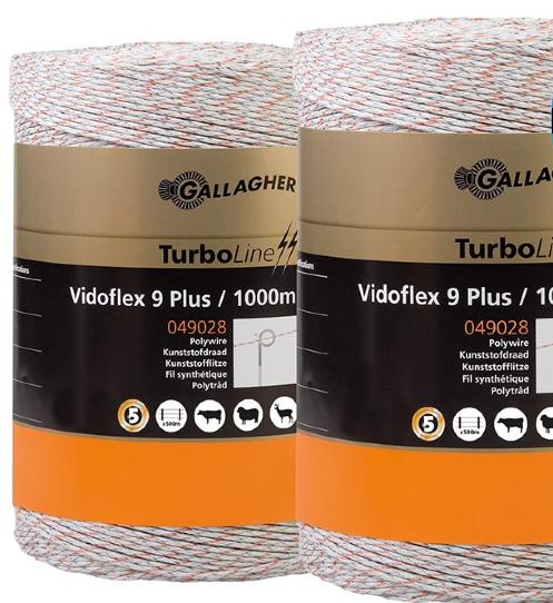 Eltråd Gallagher Turboline 9 Plus 3mm Vit 1000 M 2-pack