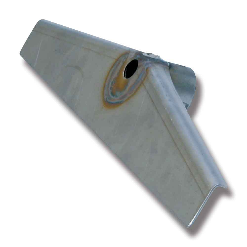 Gödselskrapa Rostfri 350mm Vinklad