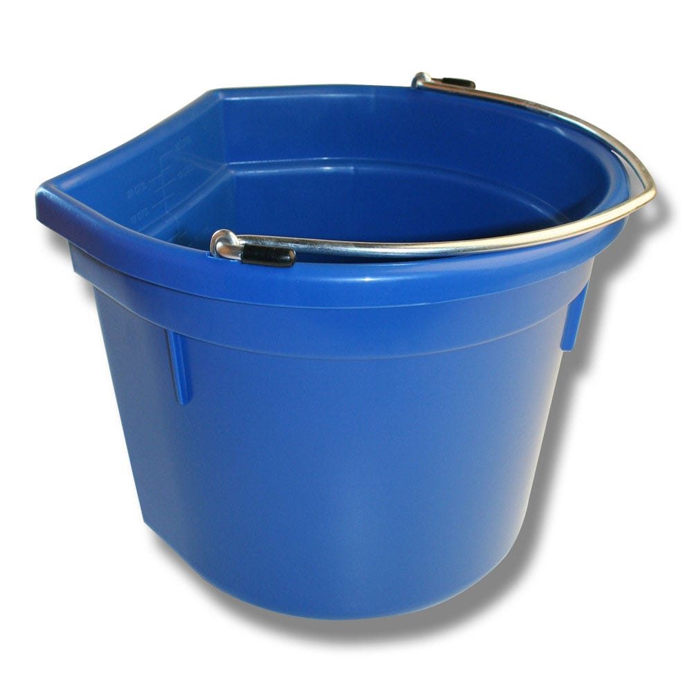Hink Flat Sida Blå 20 Liter