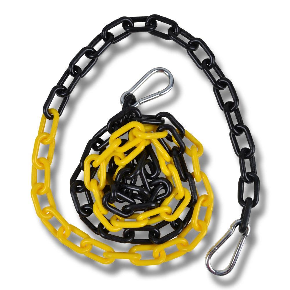 Plastkätting 2 m svart/gul - Hansbo Sport