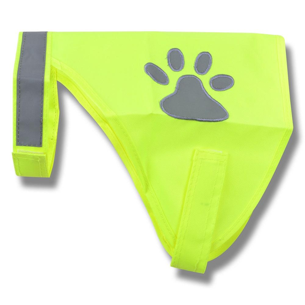 Reflexväst för hund neongul 20 cm