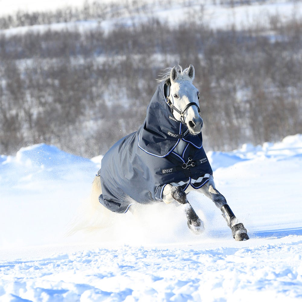 Vintertäcke Horseware Amigo Bravo 12 Plus 400 g 140 cm marin - Horseware