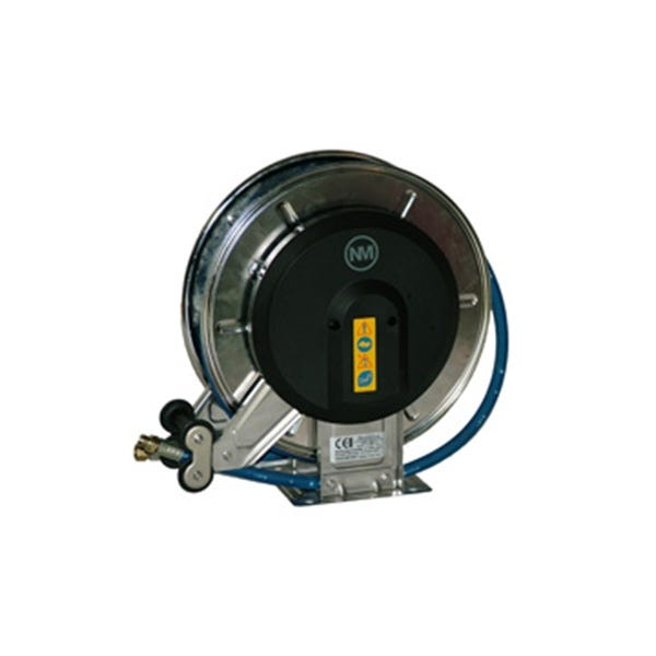 Högtrycksvinda NM 10 mm 15 m Slang Max 150 °C 400 Bar Rostfri